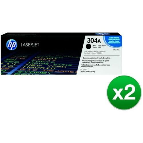 HP 304A Black Contract LaserJet Toner Cartridges (CC530AC)(2-Pack)