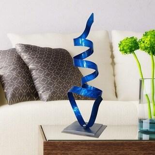 Statements2000 Metal Art Accent Sculpture Centerpiece by Jon Allen - Blue Whisper