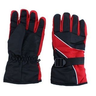 Motorcycle Climbing Winter Snowmobile Ski Gloves Athletic Mittens Red Pair