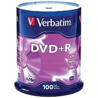 Verbatim 95098 4.7Gb Dvd+Rs (100-Ct Spindle)