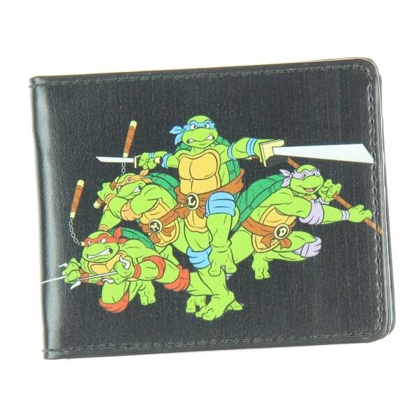 Buckle Down Teenage Mutant Ninja Turtles Group Pose Bifold Wallet (Black)
