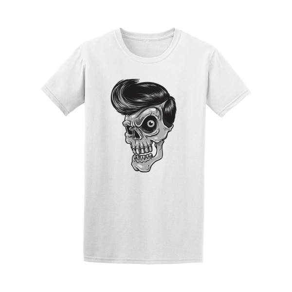 3678ab866c06c Skull With Rockabilly Hair Tee Men's -Image by Shutterstock