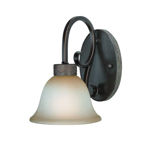 Craftmade 23601 Brookshire Manor 1 Light Bathroom Wall Sconce - 7.5 Inches Wide