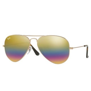 Ray Ban RB3025 9020/C4 58mm Bronze Copper Gold Rainbow Flash Aviator Sunglasses - bronze copper - 58mm-14mm-135mm