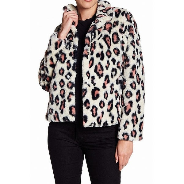 60b848ac49 Shop Abound Ivory Womens Leopard Print Faux Fur Snap Jacket - Free Shipping  On Orders Over $45 - Overstock - 26929684