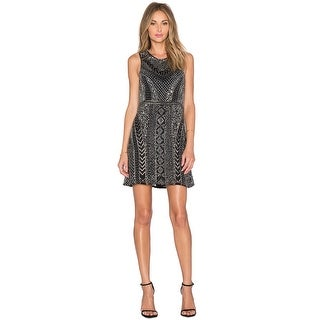 Parker Black Allegra Sequined Sleeveless Cocktail Evening Dress - 10