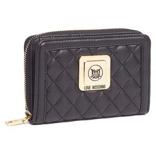 Moschino JC5533 0000 Black Zip Around Wallet