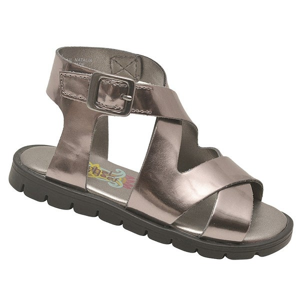 Shop Rachel Shoes Little Girls Pewter Glossy Criss-Cross Strap Sandals - Free  Shipping On Orders Over  45 - Overstock.com - 23082895 fa4b6bad7756