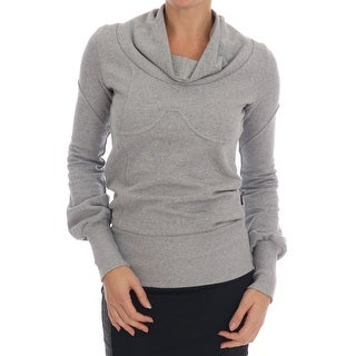 EXTE Gray Cotton Top Pullover Sweater - it42-m