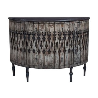 GuildMaster 643505 Artifacts 55 Inch Wide Mahogany End Table