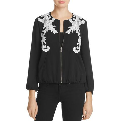 Kobi Halperin Women's Large Embroider Full-Zip Jacket