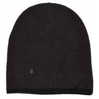 Gucci 352350 Men's Black Beige Wool Cashmere Beanie Ski Winter Hat LARGE