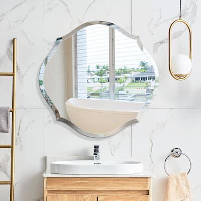 Mirror Trend Beveled Accent Frameless Mirror - 28*28*0.71