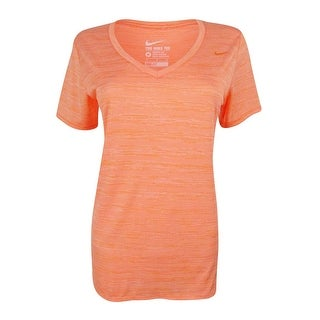 Nike Women's V-Neck Striped Dri-Fit Top