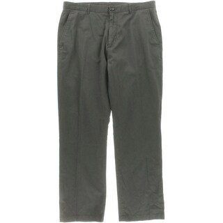 Perry Ellis Mens Flat Front Slit Pockets Corduroy Pants
