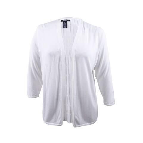 Alfani Women's Plus Size Open-Knit Cardigan (3X, Soft White) - Soft White - 3X