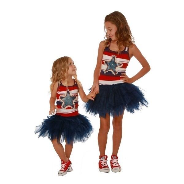 d55c3273c6 Shop Ooh! La La! Couture Little Girls Red Blue Denim Star Applique Dress - Free  Shipping Today - Overstock.com - 18506809