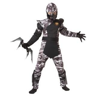 Boys Arctic Ninja Camouflage Kids Halloween Costume