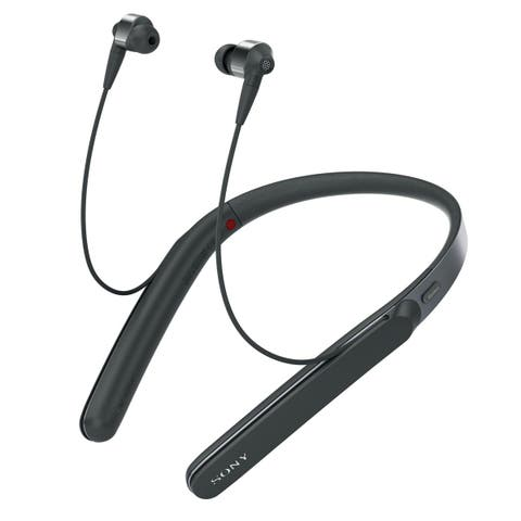 Sony WI-1000X/B Wireless Noise-Cancelling Earbuds with Mic and Remote (Black)