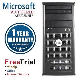 Refurbished Dell OptiPlex 360 Tower Intel Core 2 Duo E6550 2.33G 4G DDR2 1TB DVD Win 7 Home 64 Bits 1 Year Warranty - Silver