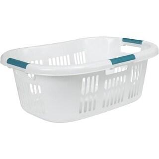 Rubbermaid Home White Laundry Basket FG299787WHT Unit: EACH