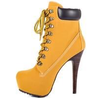 Ziginy Women's Jubilee Boots - tan faux