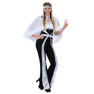 Dazzling Silver Disco Costume for Women (3 options available)