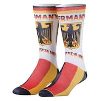 Odd Sox Germany Print Country Crew Socks - Deutschland Flag - One size