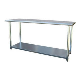 """Offex Stainless Steel Cook and Work Table 24"""" x 72"""" - Silver"""