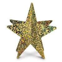 """Club Pack of 12 3-D Gold Prismatic Star Table Decoration Centerpieces 12"""""""