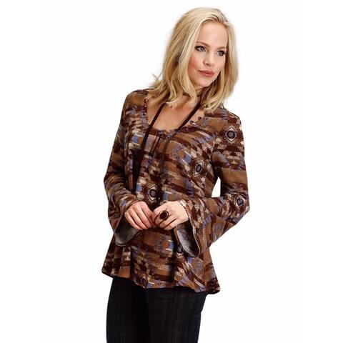 Stetson Western Shirt Womens L/S Blanket Brown