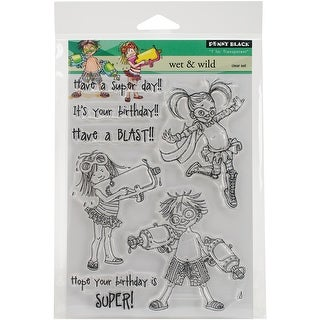 """Penny Black Clear Stamps 5""""X7""""-Wet & Wild"""