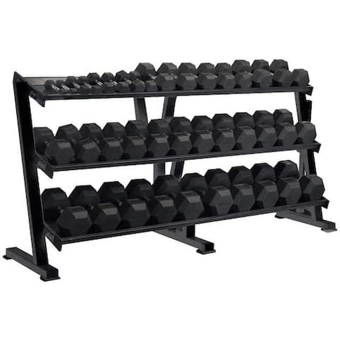 York 3 Tier Tray Dumbbell Rack