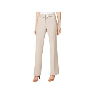 Calvin Klein Womens Petites Dress Pants Mid Rise Straight Leg