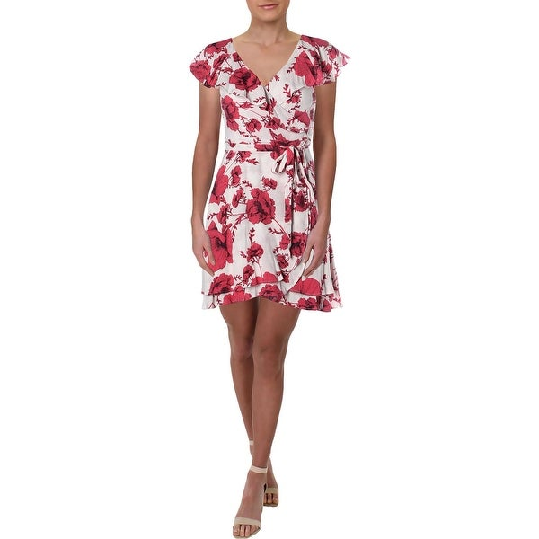 d404bd7320173 Shop Free People Womens French Quarter Wrap Dress Floral Ruffled ...