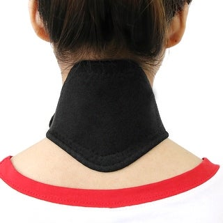 Unique Bargains Black Unisex Magnet Massage Neck Pad Wrap Brace Support Strap Protector