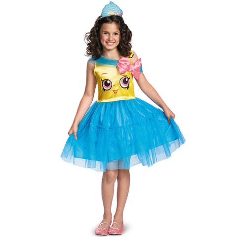 Disguise Cupcake Queen Classic Child Costume - Blue/Gold