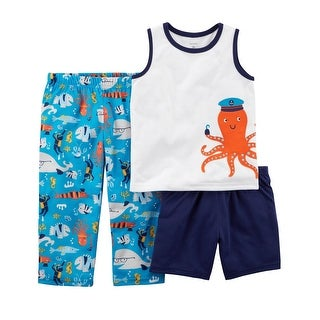 Carter's Baby Boys' 3-Piece Fish Poly PJs - Octopus