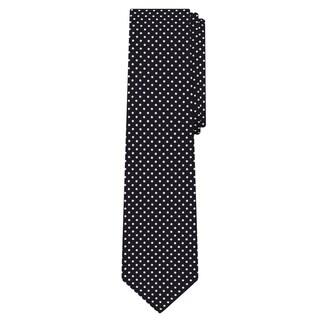 Jacob Alexander Polka Dot Print Men's Polka Dotted Extra Long Tie - One size (Option: Black)