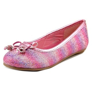 Laura Ashley Glitter Ballerina Flat Youth Round Toe Synthetic Ballet Flats