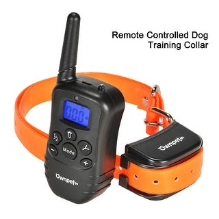 Ownpets Dog Training Collar With Remote 100 Levels Static Shock, Rechargeable Waterproof 330 Yard Pet Trainer