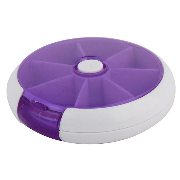 Medicine Drug Tablet Pill 7 Slots Organizer Box Case Storage Holder Purple