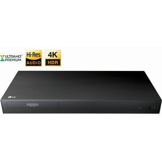 LG UP875 4K Ultra HD 3D Blu-ray Player with Remote Control, HDR Compatibility, Upconvert DVDs, Ethernet, HDMI, USB Port - Black