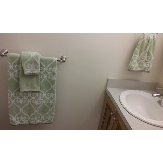Amraupur Overseas 6-Piece Yarn Dyed Lattice Towel Set