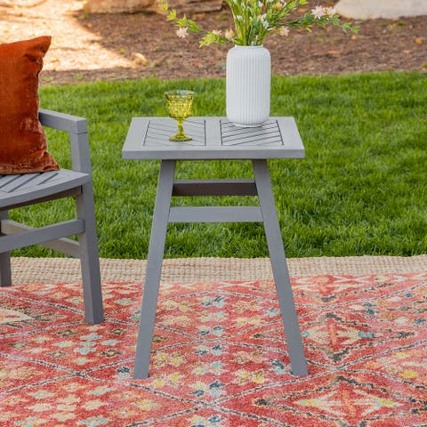 Elephant Point Outdoor Chevron Side Table by Havenside Home