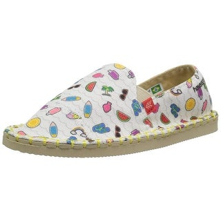 Kids Havaianas Girls Origine Yacht Kids Joy Canvas Slip On Loafers