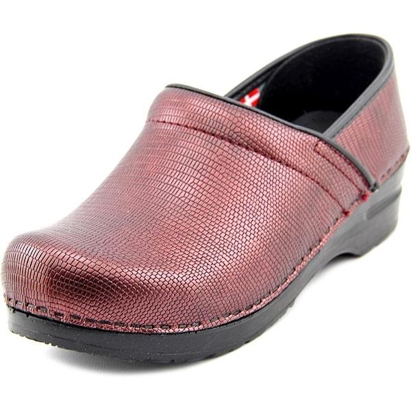 Sanita Prof Dream Round Toe Leather Clogs