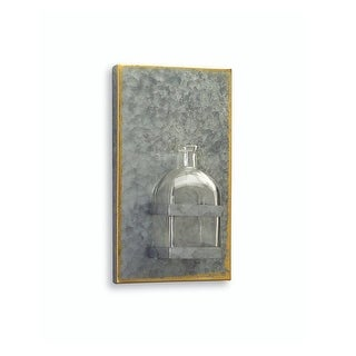 "10"" Farmhouse Chic Tin Plaque with Glass Bottle Wall Decor"