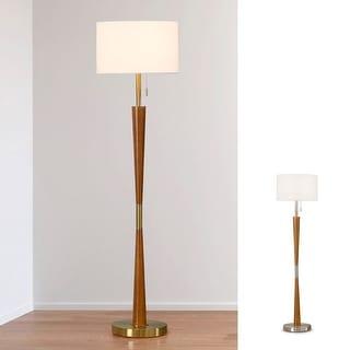 "Link to HOMEGLAM  Century 61""H  Wood Floor lamp Similar Items in Floor Lamps"