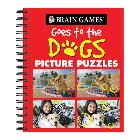 Publications International Brain Games Book - Goes to the Dogs Picture Puzzles